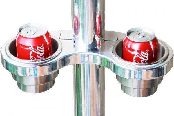 Pole/Pylon double cup/drink holder CH-250